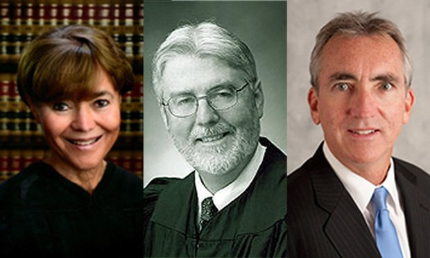 Associate Justices, Audrey Collins , Thomas Willhite Jr. and Brian Currey of California's Second District Court of Appeal. (Photo: Courtesy Photo)