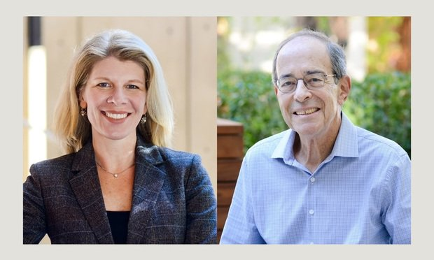 Nora Freeman Engstrom(left) and Robert L. Rabin(right) professors with Stanford Law School.