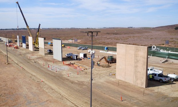 Mexico-U.S. border wall prototypes/photo by CBP Photography/Flickr