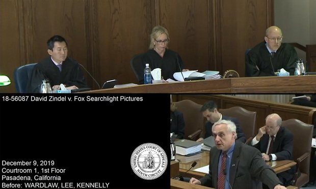 Alex Kozinski, the former chief judge of the U.S. Court of Appeals for the Ninth Circuit arguing in David Zindel v. Fox Searchlight Pictures. (Photo: Courtesy Photo)