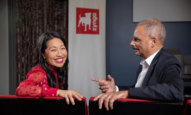 Eric Holder and Phuong Phillips