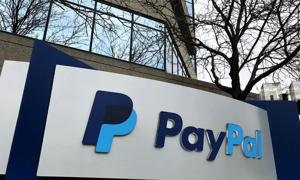 The facade of a PayPal offices in Timonium, MD.