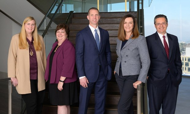 From left to right: Tamera Weisser, Erin Burke, Steve Geise, Karen Hewitt, David DiMeglio (Photo: Courtesy Photo)