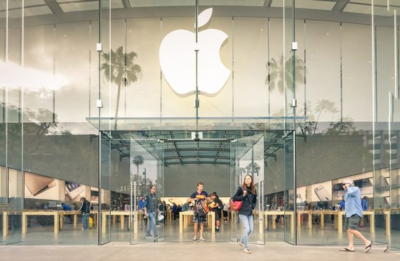 LOS ANGELES - 19 MARCH 2015: Apple store on 3rd Street Promenade in Santa Monica CA United States. The retail chain owned and operated by Apple Inc is dealing with computers and electronics worldwide. Courtesy photo