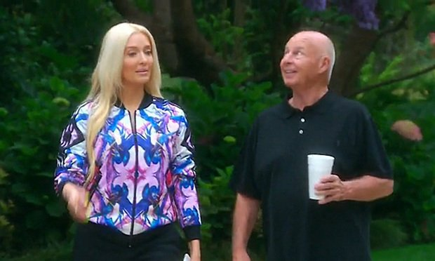 "Tom Girardi and his wife Erika Jayne during the episode ""Horsing Around"" of the Bravo television show The Real Housewives of Beverly Hills, which aired on Tuesday, December 15, 2015. Credit: Bravo."