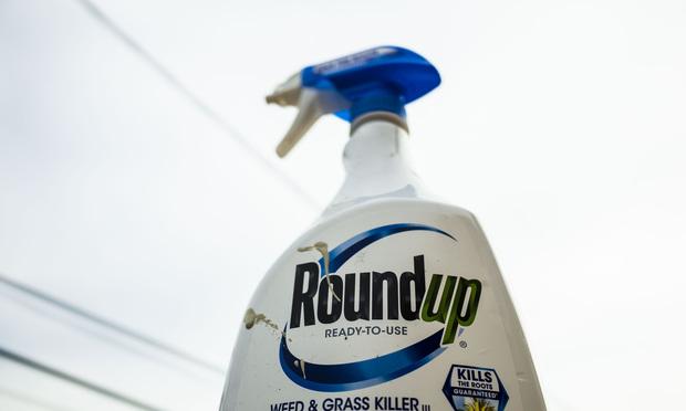 Roundup weed killer.