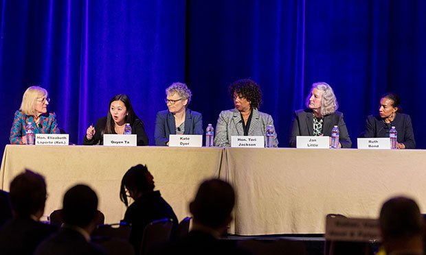 A panel of diverse women attorneys in the Bay Area tackle gender bias in the courtroom put on by the ABTL and held at the Hyatt Embarcadero. (Photo: Jason Doiy/ALM)