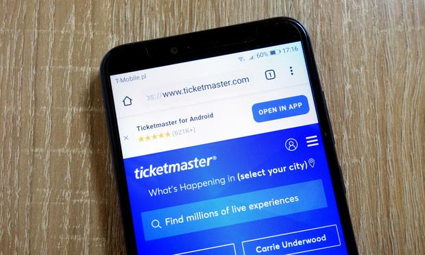 Ticketmaster website.