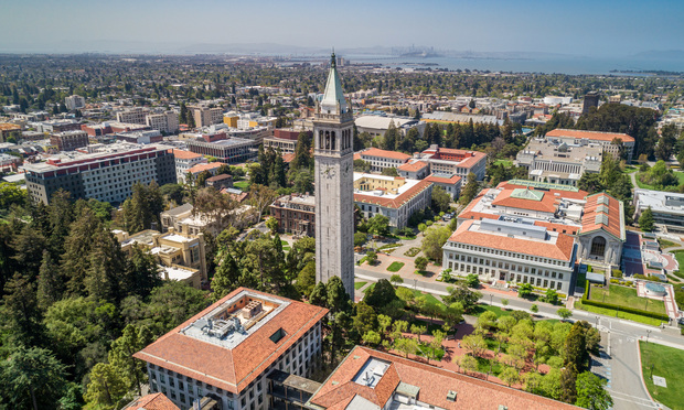Aerial photo of the University of California at Berkeley on April, 13, 2020 under the state-wide shelter in place order (Photo: Jason Doiy/ALM)