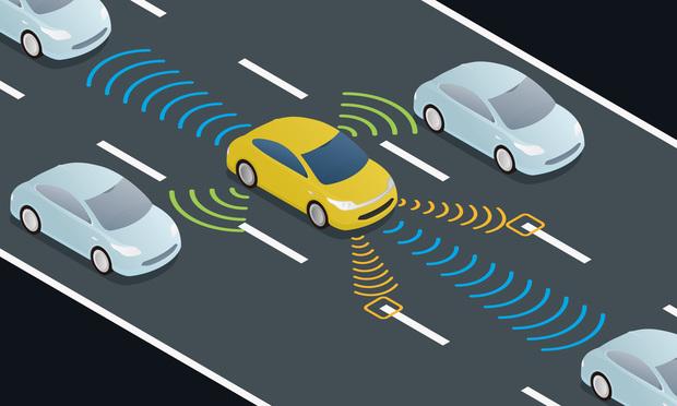 Autonomous car illustration