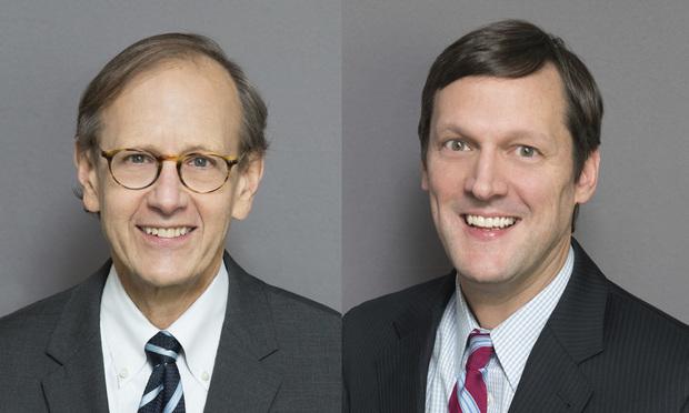 Richard Olderman, left, and Edward Barnidge, right, of Williams & Connolly.