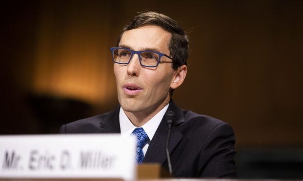 Eric Miller testifies before the Senate Judiciary Committee during his confirmation hearing to be on the Ninth Circuit.