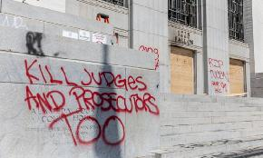 Slideshow: Courthouse Set Ablaze Amid Protest in Oakland
