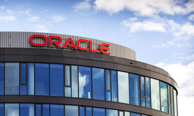 Oracle corporation logo on the building of new Czech headquarters on June 18, 2016 in Prague, Czech republic.