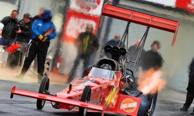 Red drag racer