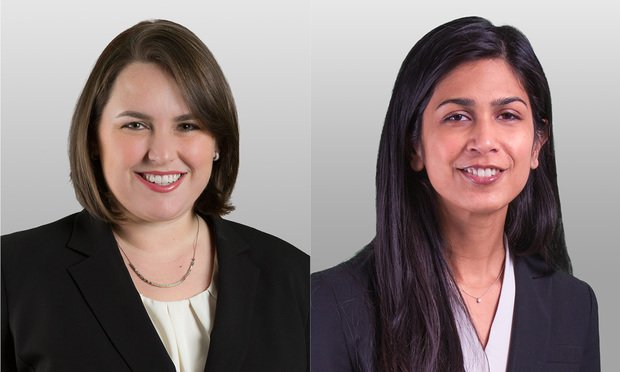 Covington & Burling's Gretchen Hoff Varner and Rani Gupta (Photo: Courtesy Photo)