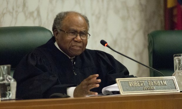 Justice Robert Benham, Supreme Court of Georgia (Photo: John Disney/ ALM)