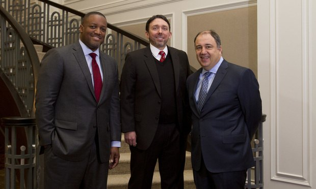 Dwayne Adams (from left), Shane Peagler and Michael Neff, The Law Office of Michael Lawson Neff Atlanta