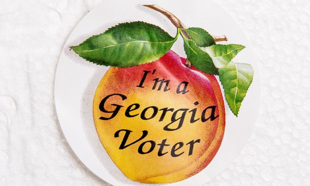 Georgia peach vote sticker