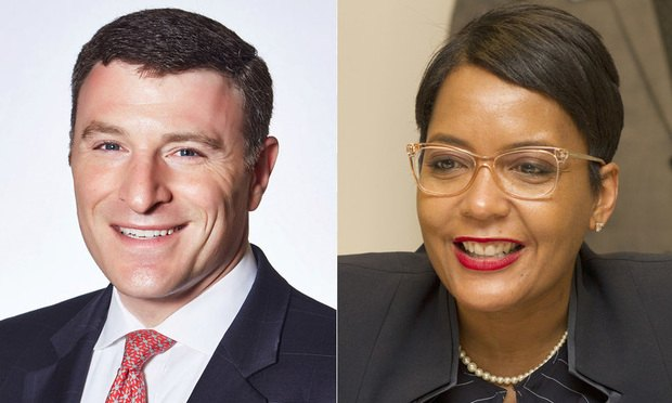 Jeremy Berry (left) and Keisha Lance Bottoms