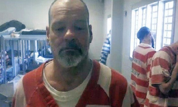Jerry Sanders in a videoconference from the Rankin County jail in Brandon, Miss., where he's been held on low-level drug possession charges since March  2017. (Photo: AP)