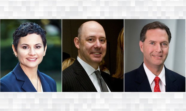 (l-r) Stephanie Friese, of Pursley Friese Torgrimson, Michael Golden, of Arnall Golden Gregory, and John Yates, of Morris Manning & Martin/courtesy photos