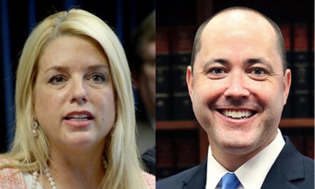 "Florida Attorney General Pamela Jo ""Pam"" Bondi (left) and Georgia Attorney General Chris Carr"