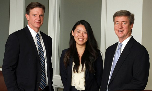 Mark Johnson (from left), Clare Zhang and Rick Sager, Weinberg Wheeler Hudgins Gunn and Dial, Atlanta. (Photo: John Disney/ALM)