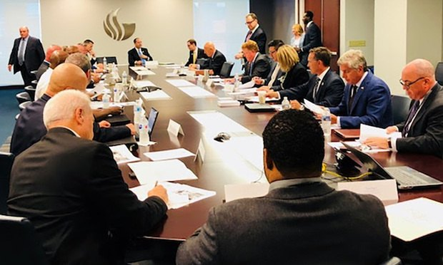 Georgia Attorney General Chris Carr hosted a roundtable discussion Wednesday with local, state and federal law enforcement officials and legal experts that focused on the rise in organized crime in Georgia. (Courtesy photo)