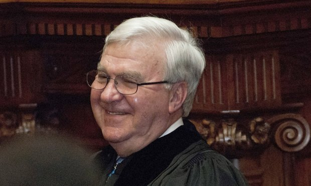Judge P. Harris Hines just before his investiture as chief justice of the Supreme Court of Georgia on Jan. 6, 2017. (Photo: John Disney/ALM)
