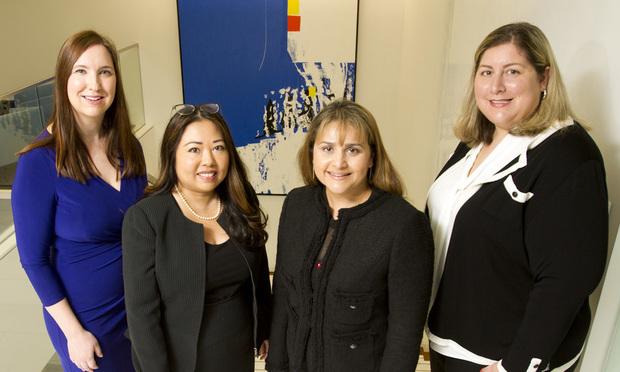 Kate Smith (from left), Sarah Hawk, Roz Hall and Terra Martin of Polsinelli, Atlanta. (Photo: John Disney/ALM)