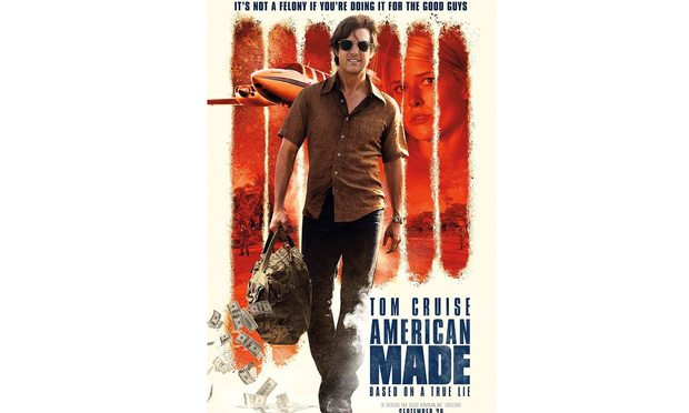 "Poster for upcoming Tom Cruise movie ""Mena"" aka ""American Made."""