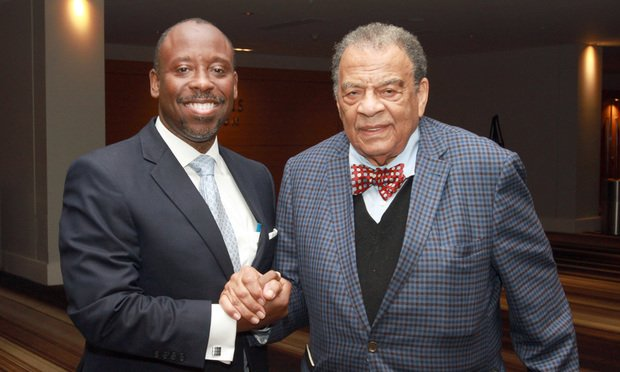 Harold Franklin (left) and Andrew Young (Photo: John Disney/ALM)