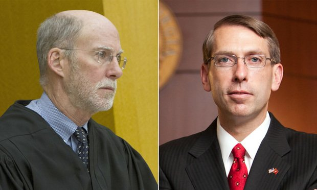 Judges Henry Newkirk (left) and Reuben Green.