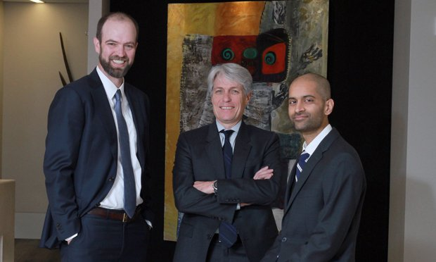 Michael D'Antignac (from left), Andy Rogers and Naveen Ramachandrappa. (Photo: John Disney/ALM)