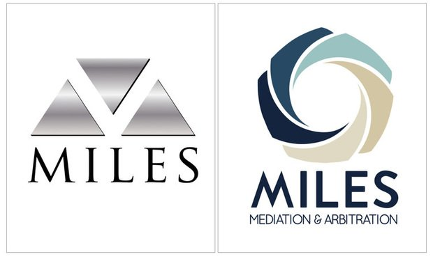 Miles' old and new logos