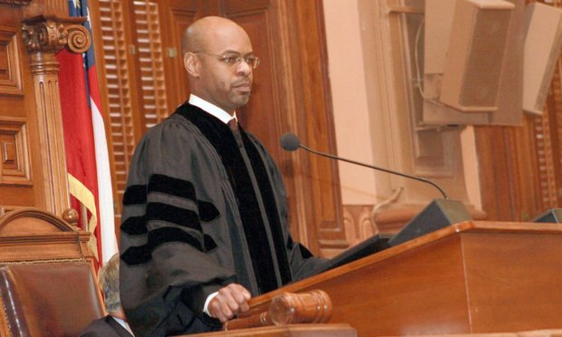 Chief Justice Harold Melton delivered the 2019 State of the Judiciary on Tuesday, his first State of the Judiciary speech since becoming chief justice. (Photo: John Disney/ALM)