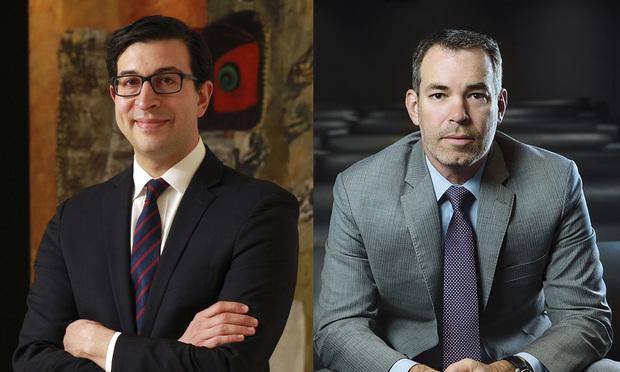 Kamal Ghali, of Bondurant Mixson & Elmore, left, and Mark Ray, of Nardello & Co., right.