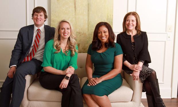 From left, Austin Buerlein, Gillian Fierer O'Nan, Regina Edwards and Rachel Elovitz, Elovitz,Edwards,O'Nan & Buerlein, LLC, Atlanta.