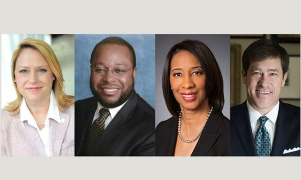 Gov. Brian Kemp's nominees, left to right: Markette Baker to the Superior Court of the Coweta Judicial Circuit, Jeffery O. Monroe to the Superior Court of the Macon Judicial Circuit, Shondeana C. Morris to the Superior Court of the Stone Mountain Judicial Circuit, and Jeffrey A. Watkins to the Superior Court of the Cherokee Judicial Circuit. Courtesy photos.