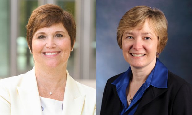 Wendy Hensel (left), has been named GSU's interim provost, effective July 1. GSU Law prof Leslie Wolf will become interim dean. (Courtesy photos)