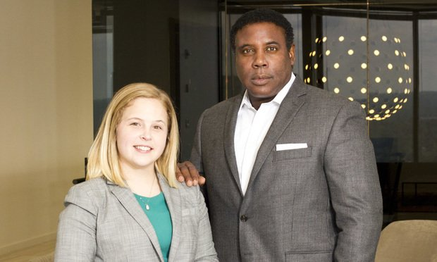 Ciera Locklair (left) and Bobby Shannon of Baker Donelson, Atlanta. (Photo: John Disney/ALM)