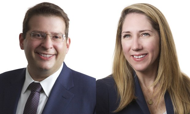 Scott Levine (left) and Christine O'Connell of King & Spalding in New York. (Courtesy photos)