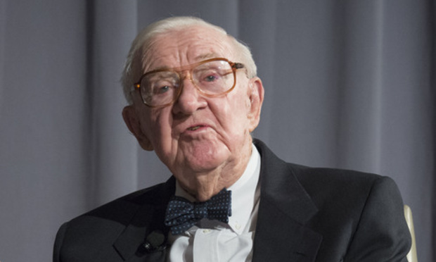 Justice John Paul Stevens speaks at the American Law Institute's Annual Meeting at the Ritz-Carlton hotel, in Washington, D.C., on May 17, 2016. (Photo: Risdon Photography)