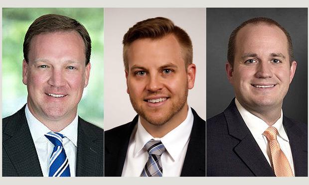 Left to right, Brett Turnbull, Clayton Cain and Alan Holcomb, of Turnbull Cain & Holcomb in Atlanta.