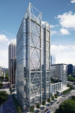 Reendering of 1105 West Peachtree St. N.W., Midtown Atlanta (Courtesy photo)