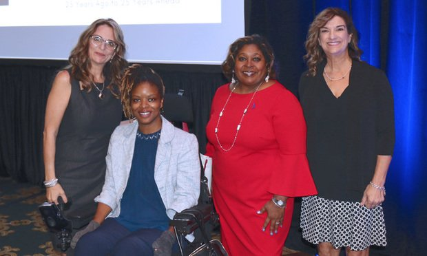 L-R: Hall County Solicitor and Georgia Commission on Family Violence Chairwoman Stephanie Woodard, new Executive Director April Ross, GCV Commissioners Jacqueline Bunn and Michelle Bedingfield. Courtesy photo