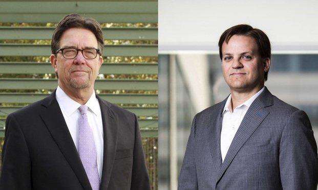 Bruce Brown (left) and David Cross. (Photos: John Disney and Diego M. Radzinschi/ALM)