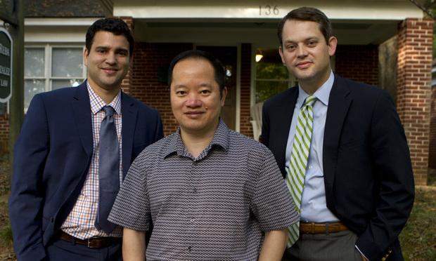 Jason White (from left), Noel Chua and Stephen Reba, Atlanta. (Photo: John Disney/ALM)