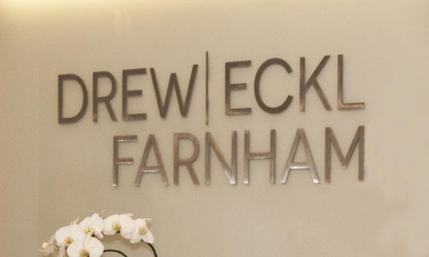 Drew Eckl & Farnham sign in Atlanta. Photo: John Disney/ ALM